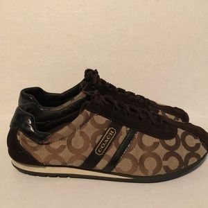 Coach Brown Signature Sneakers Size 10